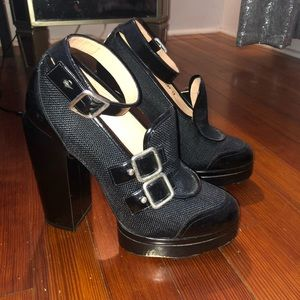 CARVEN FOR ROBERT CLERGERIE PLATFORM HEELS SZ 40